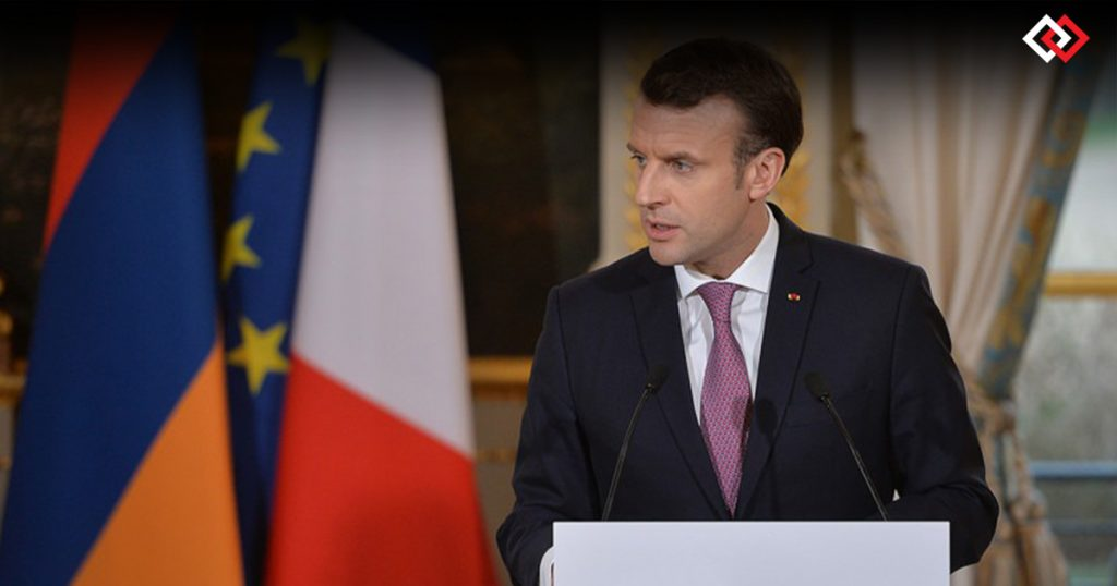 Macron-Tweets-In-Armenian-To-Announce-The-First-AstraZeneca-Vaccine-Delivery-To-Yerevan